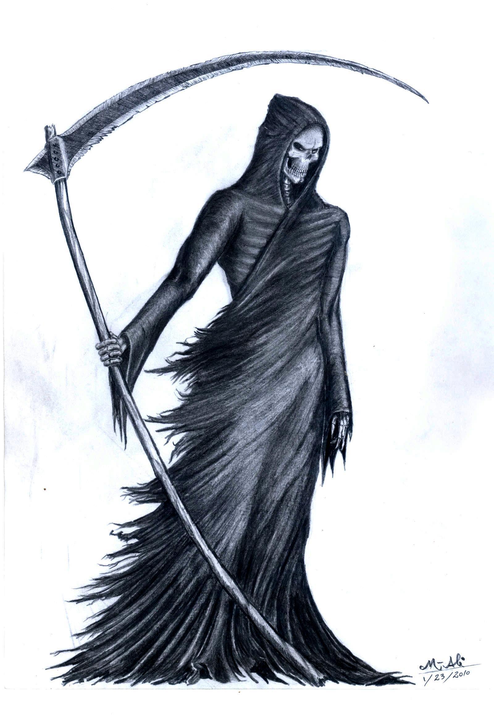 1600x2352 Grim Reaper Hd Pencil Wallpaper Drawn Grim Reaper Bone Wing