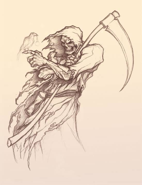 Grim reaper pencil drawing at getdrawings free for personal 550x719 grim reaper tattoos nice pencil drawing voltagebd Images