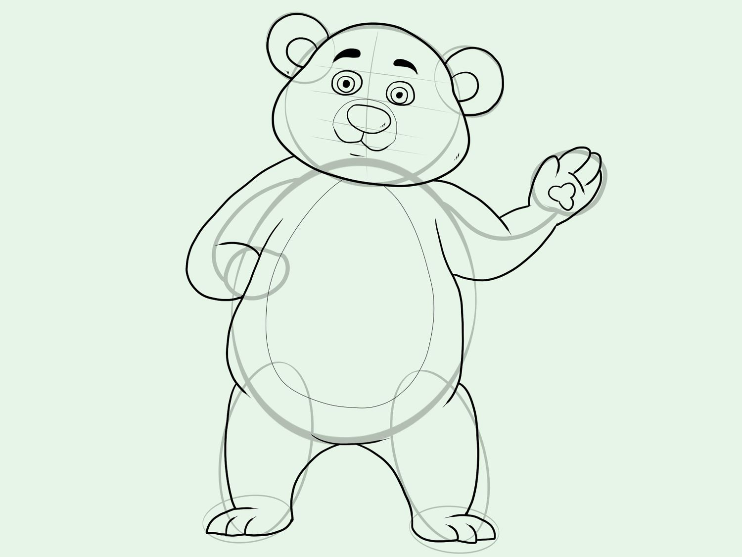 1500x1125 How To Draw A Grizzly Bear Vripmaster