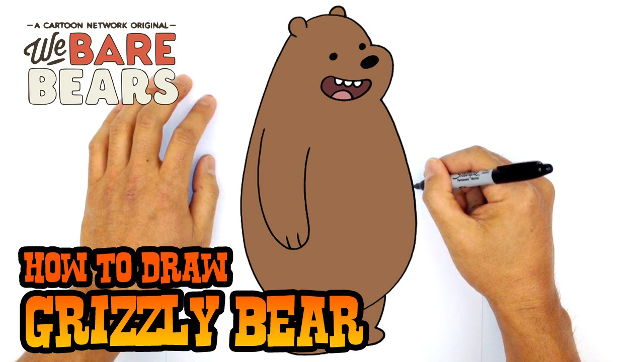 1280x720 How To Draw Grizzly We Bare Bears