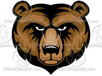 432x324 Cartoon Bear Clip Art Bear Graphics Bear Mascot Clipart Icon