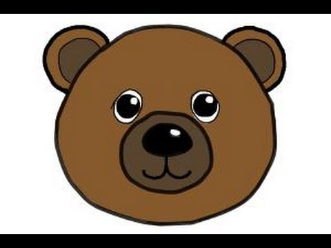 480x360 How To Draw A Bear Face