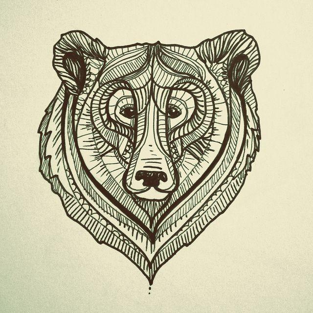 640x640 Draw Bear Face