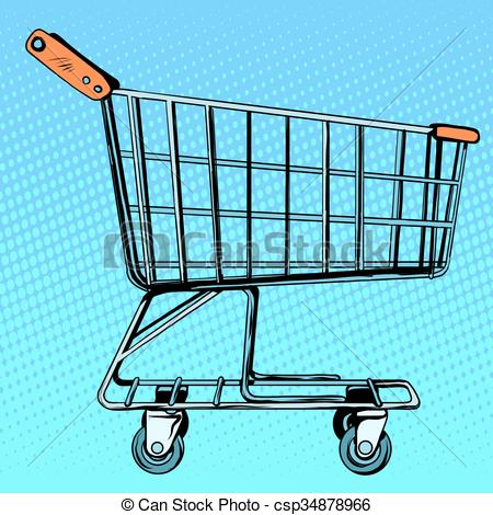 450x470 Grocery Cart Store. Shop In The Store. The Business And Clip