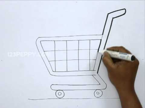 480x360 How To Draw A Shopping Cart