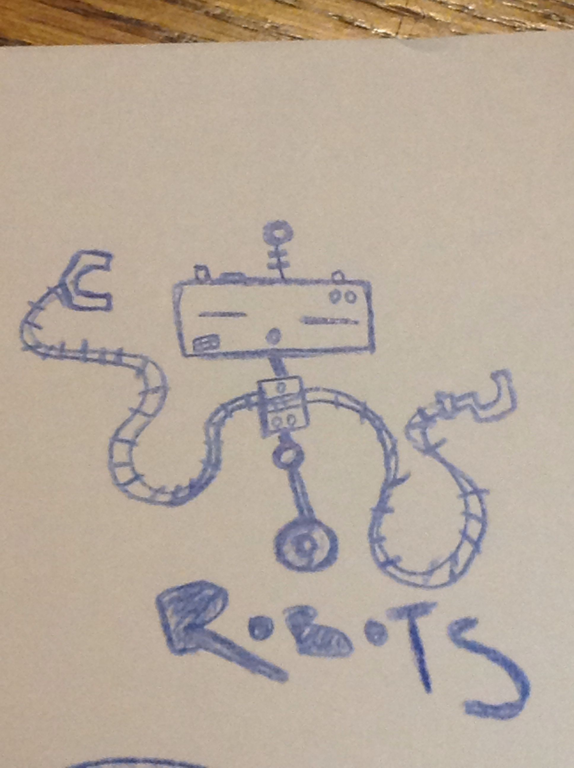1936x2592 Robot Drawing On Moms Grocery List My Artwork
