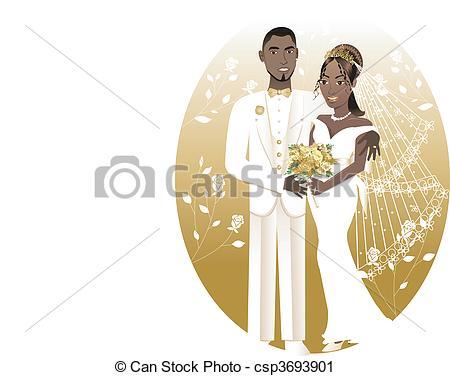 450x376 Bride Groom 2. Vector Illustration. A Beautiful Bride