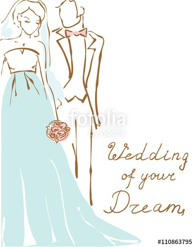 396x500 Silhouette Of Bride And Groom. Wedding Background For Invitation