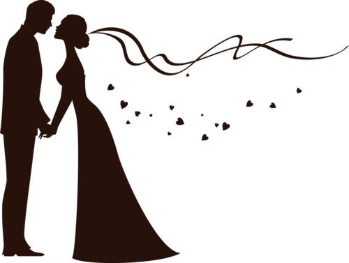 500x377 Bride And Groom Silhouette