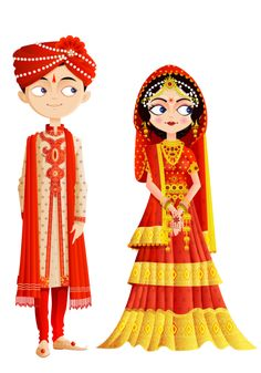 236x337 Cute Drawing Of A Dulhanride And Dulhagroom. This Photo Just