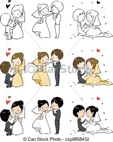 375x470 Bride And Groom Drawing