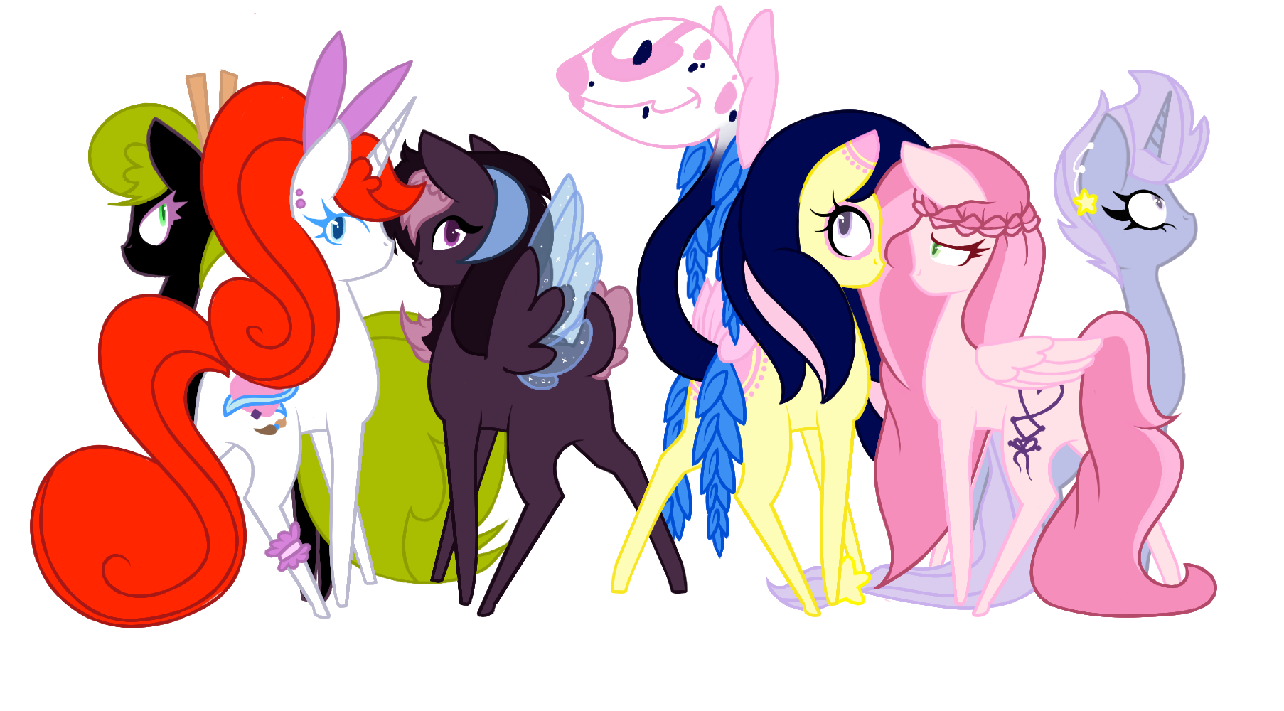 1806x1000 My Girls Group Drawing By Smallspiritgraphics