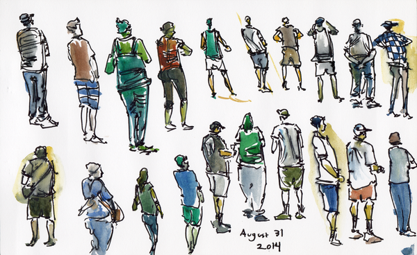 600x368 Sketch People @ Costco's Food Court Food Court, Sketches