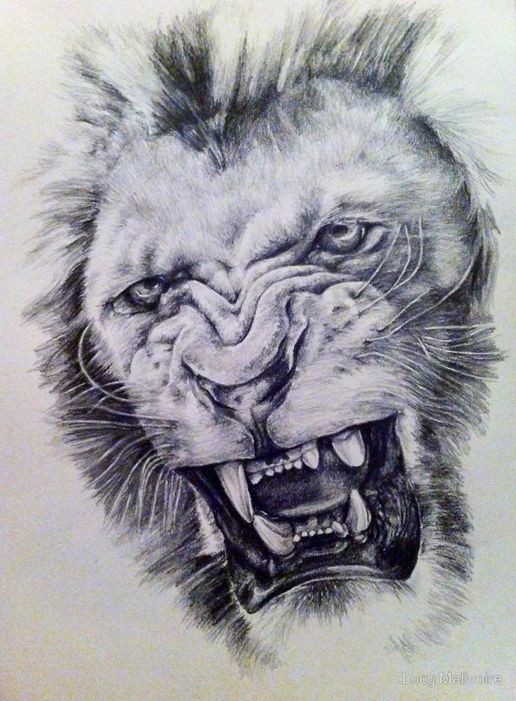 737x1000 Lion's Roar By Lucy Malivoire Redbubble