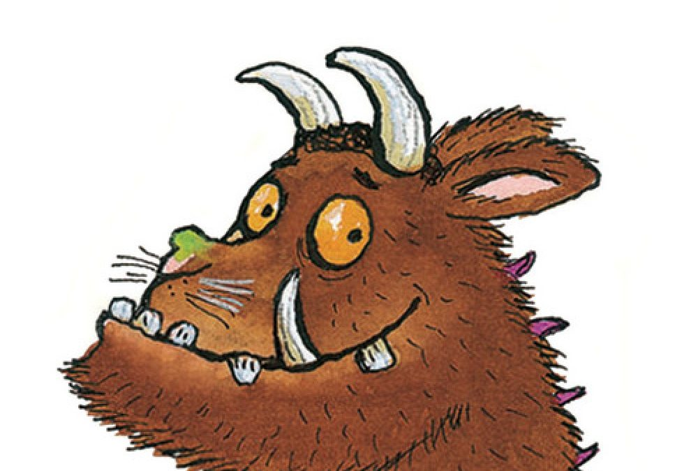 how to draw the gruffalo step by step