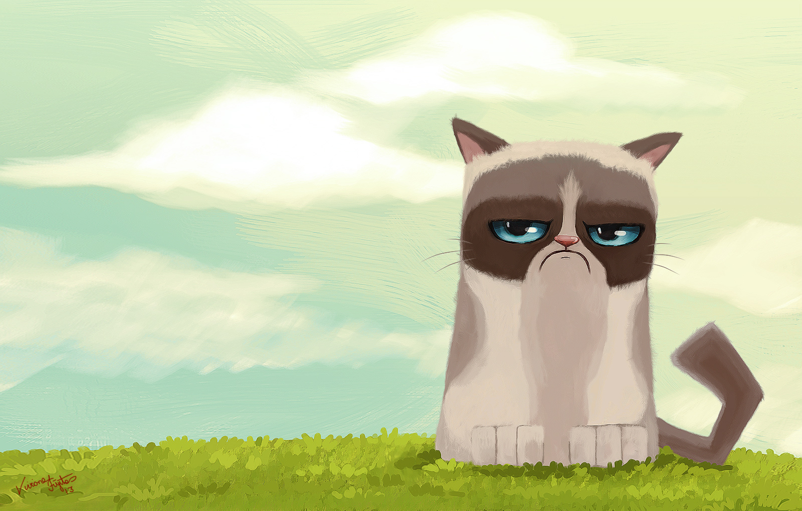 1600x1021 Grumpy Cat The Art Of Viviane Fujita