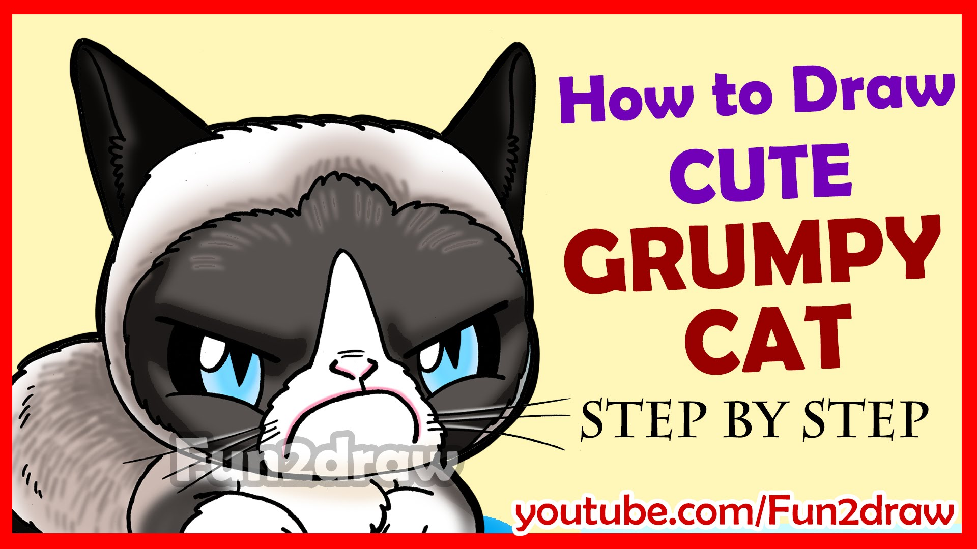 1920x1080 How To Draw A Grumpy Cat Cute + Easy