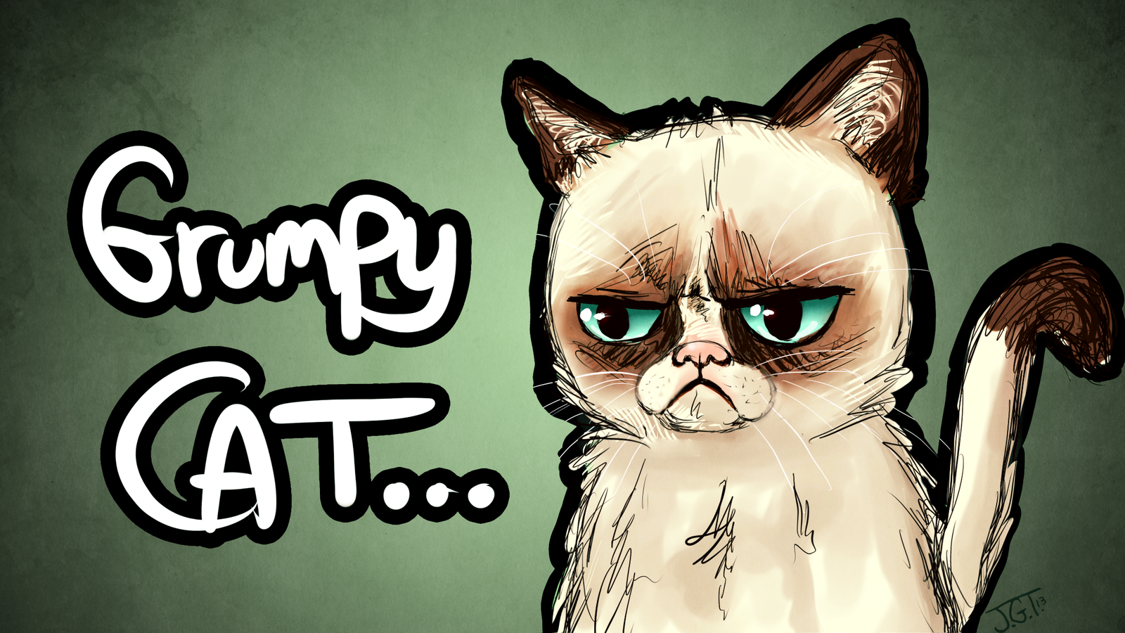 1600x900 Grumpy Cat By Kireji00