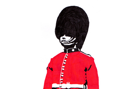 500x357 Grenadier Guard One Of Several Pen And Ink Drawings I