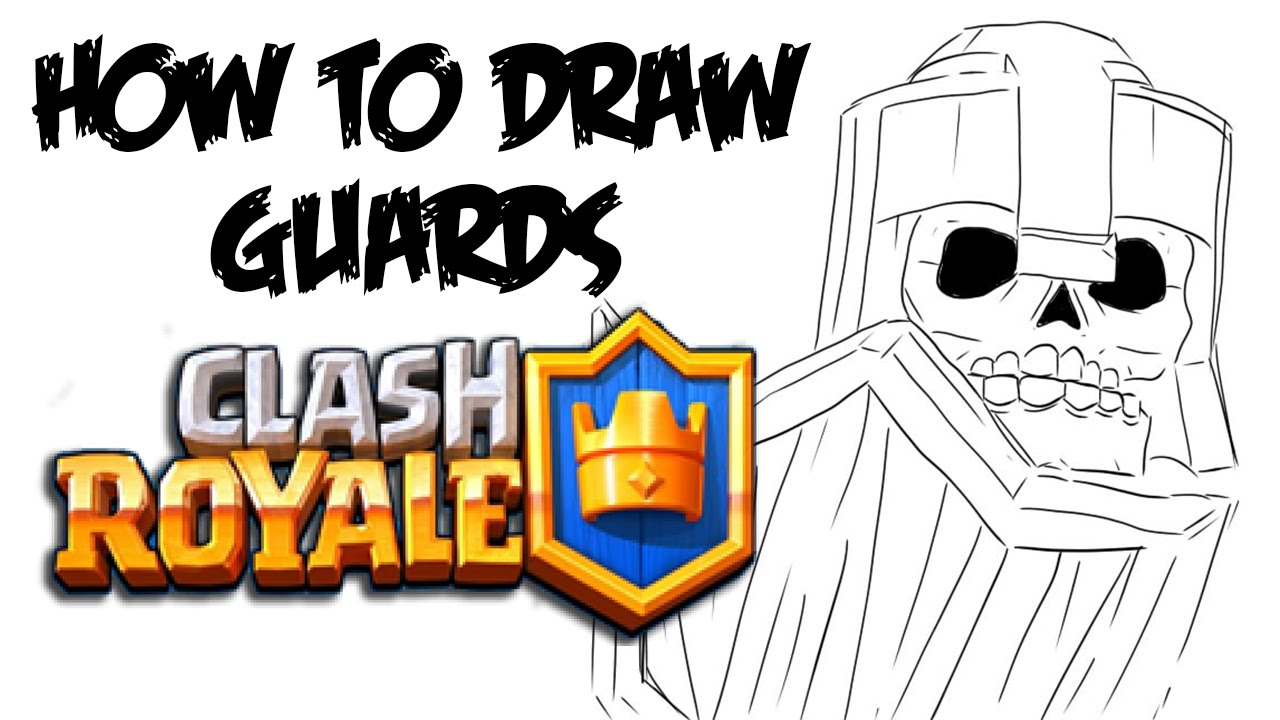 1280x720 How To Draw Guards (Clash Royale)