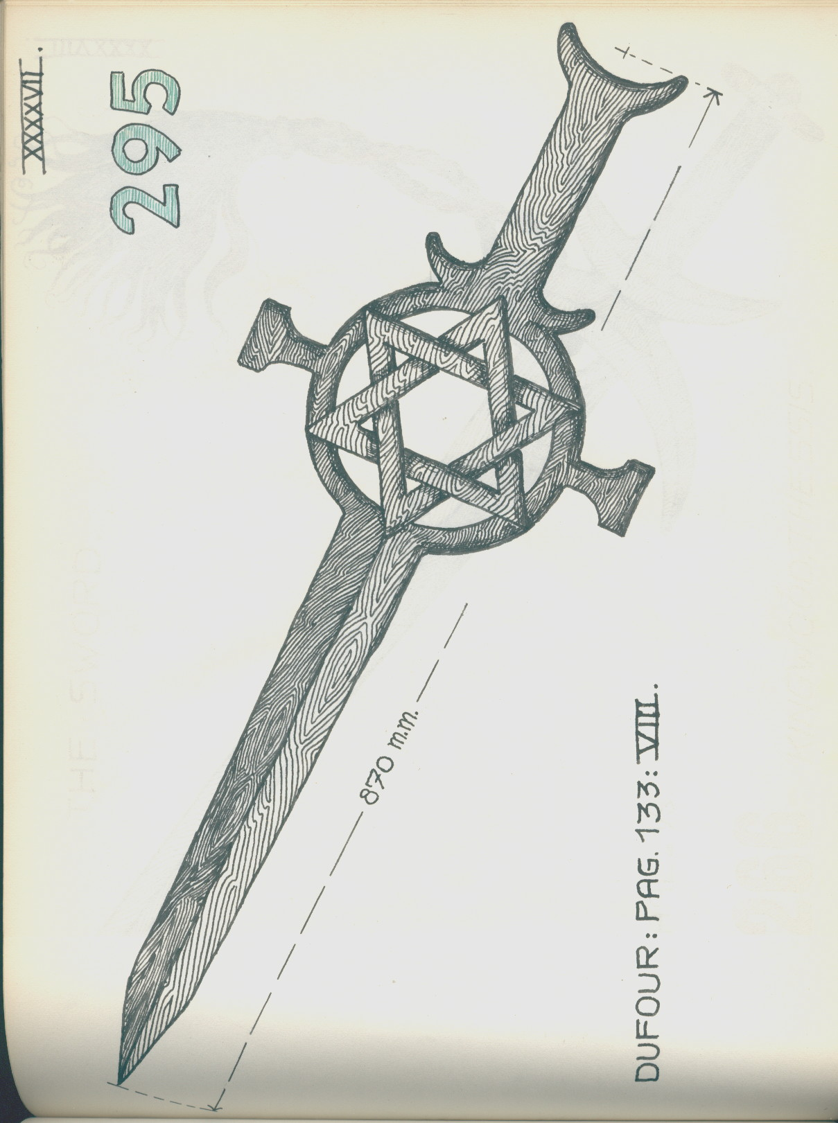 1209x1621 Rs.gxxxxvii Drawing A Sword With Hexagram Guard Museum