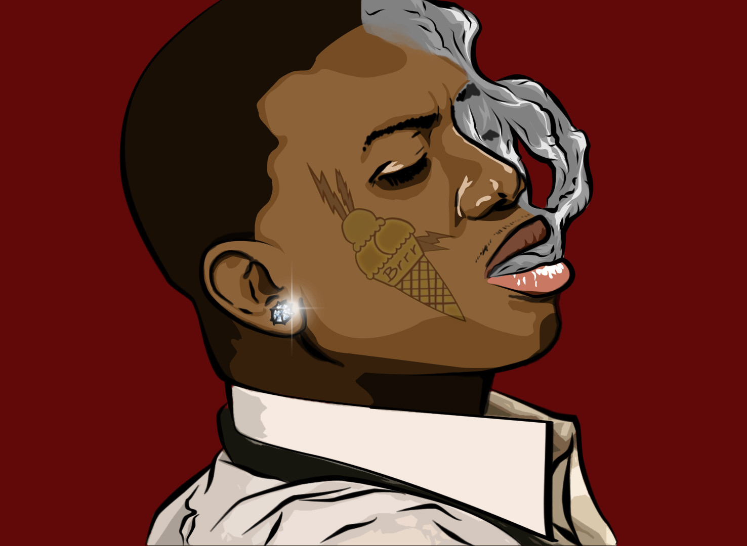 This is an image of Eloquent Gucci Mane Tattoo Drawing