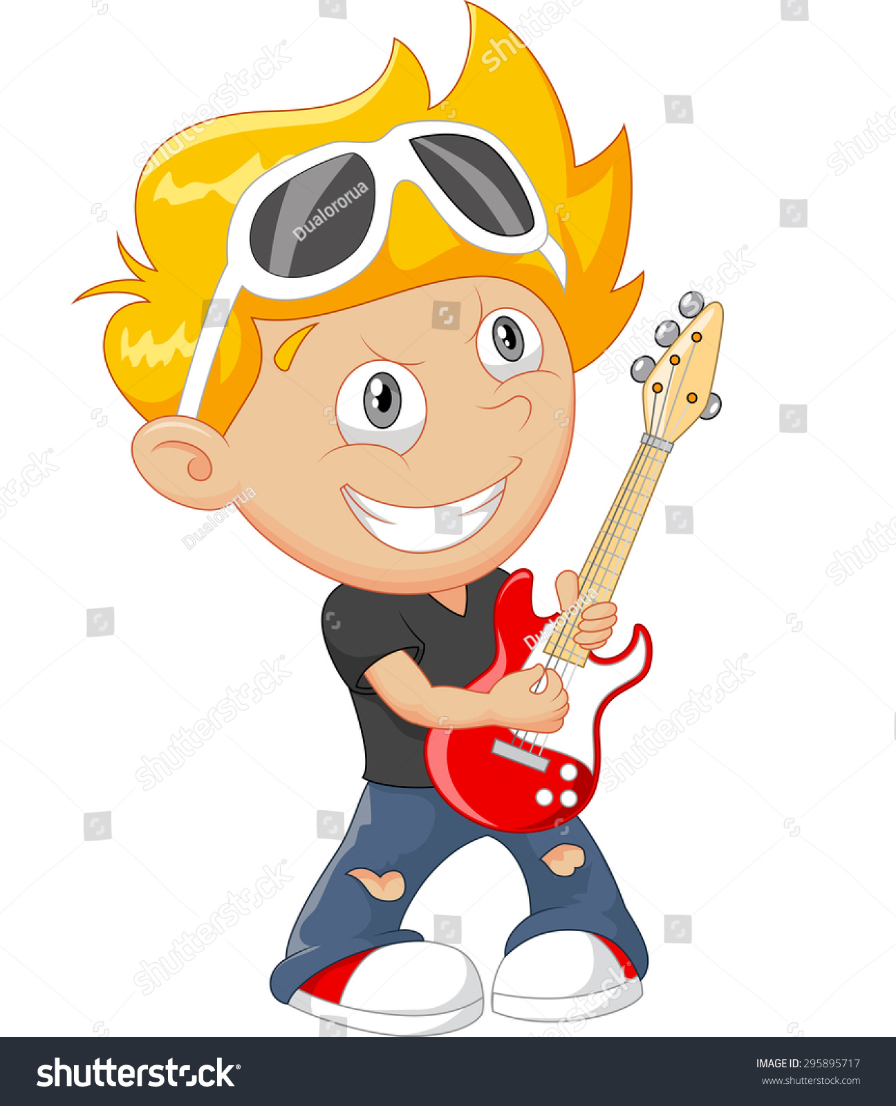 1296x1600 Gallery Cartoon Boy Playing Guitar
