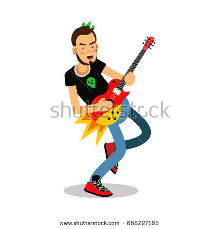 450x470 Gallery Guitar Playing Cartoon Characters,
