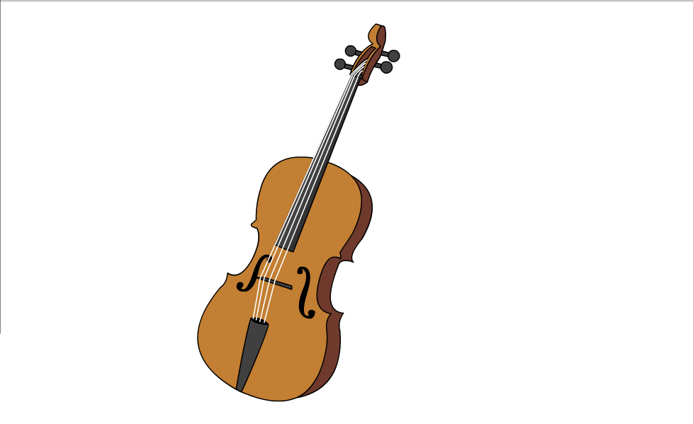 978x599 How To Draw A Cello 7 Steps (With Pictures)