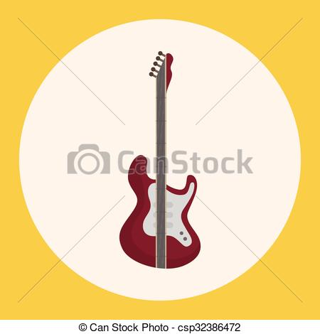450x470 Instrument Electric Guitar Cartoon Theme Elements Vectors