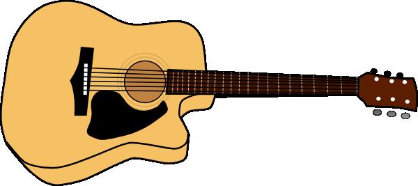600x267 Unusual Acoustic Guitar Clip Art Free Vector In Open Office