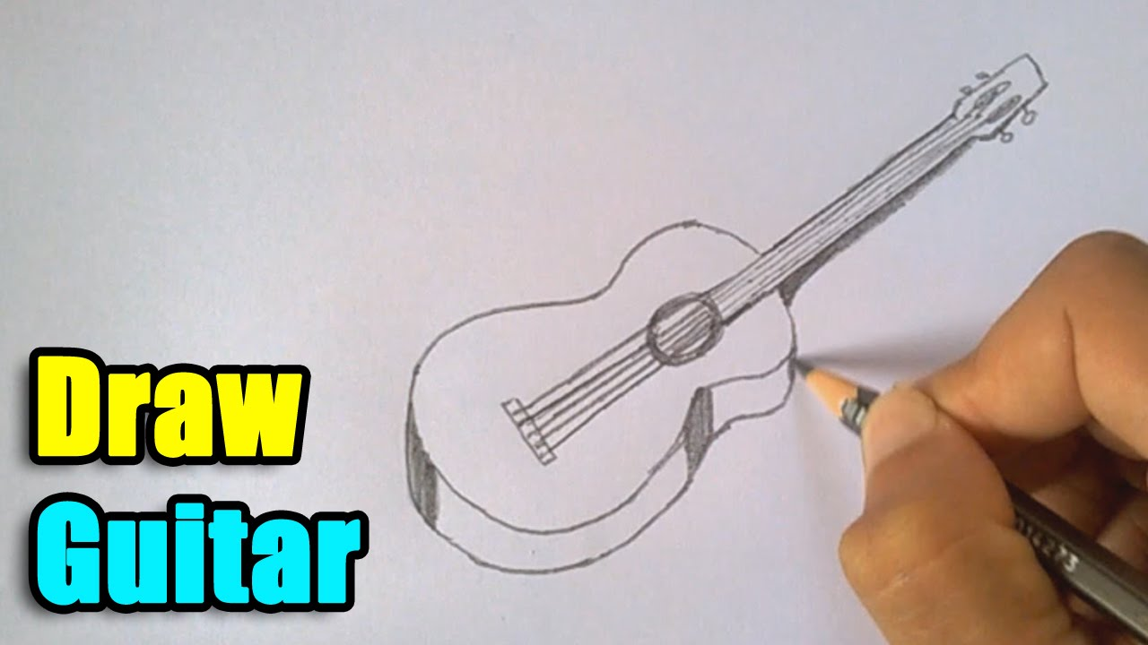 1280x720 How To Draw A Guitar