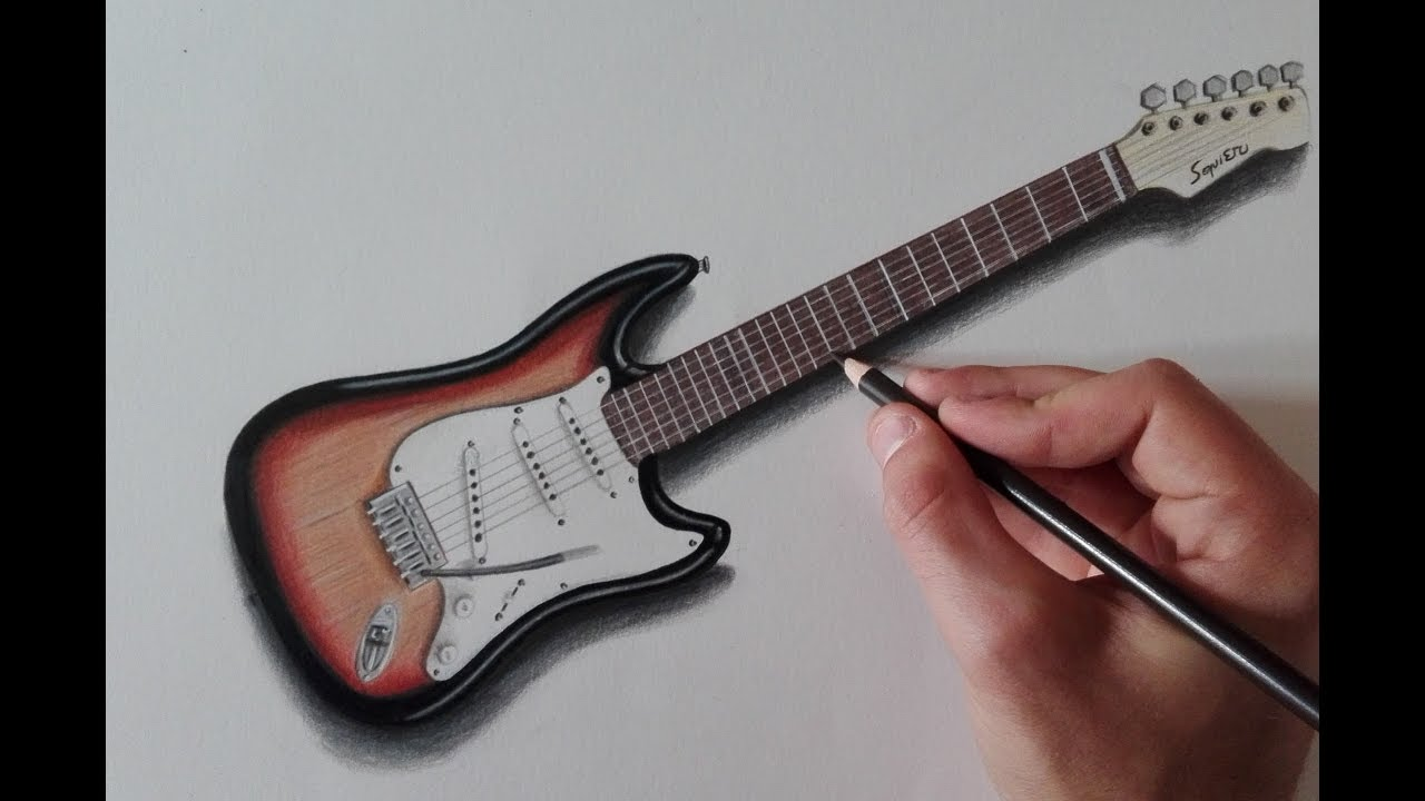 1280x720 How To Draw An Electric Guitar