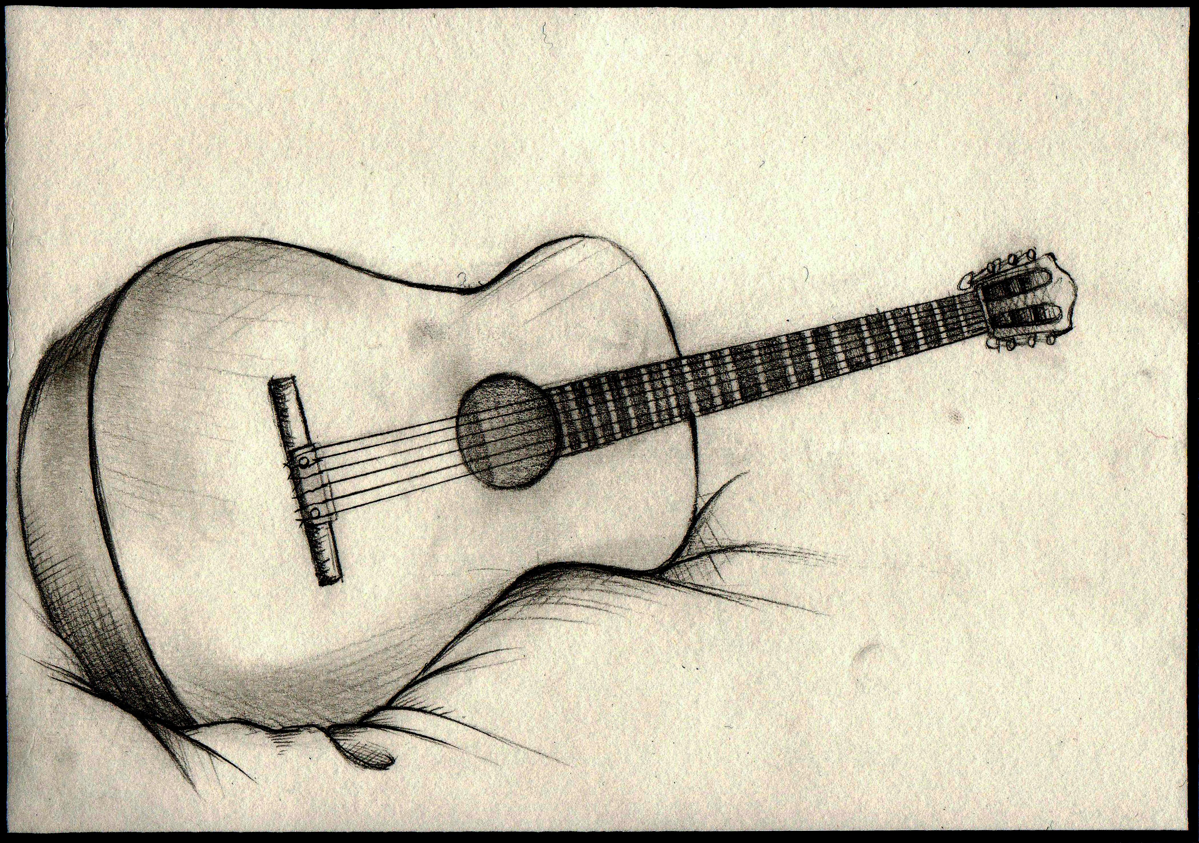 4199x2953 Easy Pencil Drawings Of Guitar