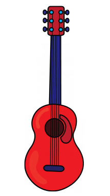 215x382 How To Draw A Red Guitar, Easy Step By Step Drawing Tutorial