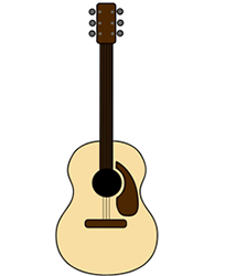214x250 Acoustic Cartoon Guitar Step By Step Drawing Lesson