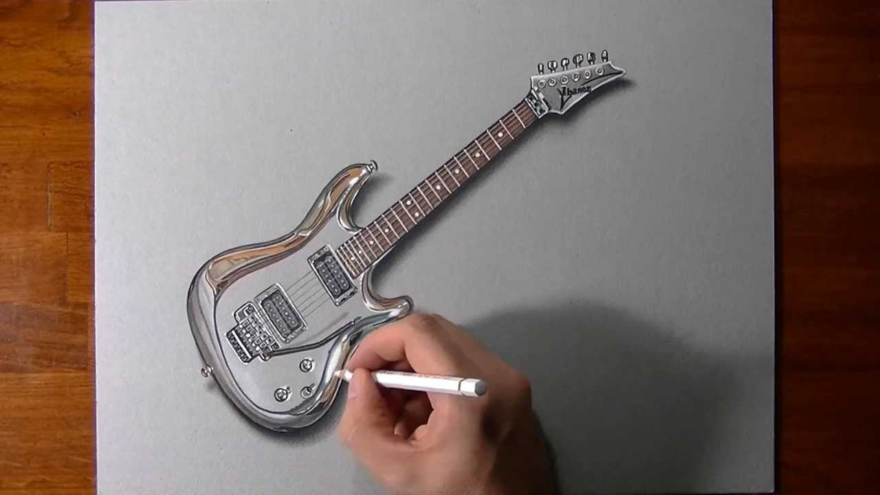 1280x720 Drawing Time Lapse Joe Satriani's Guitar