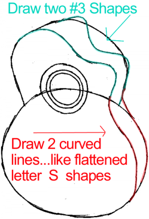 300x440 Step 4 Drawing A Guitar In Easy Steps Lesson Zentangle