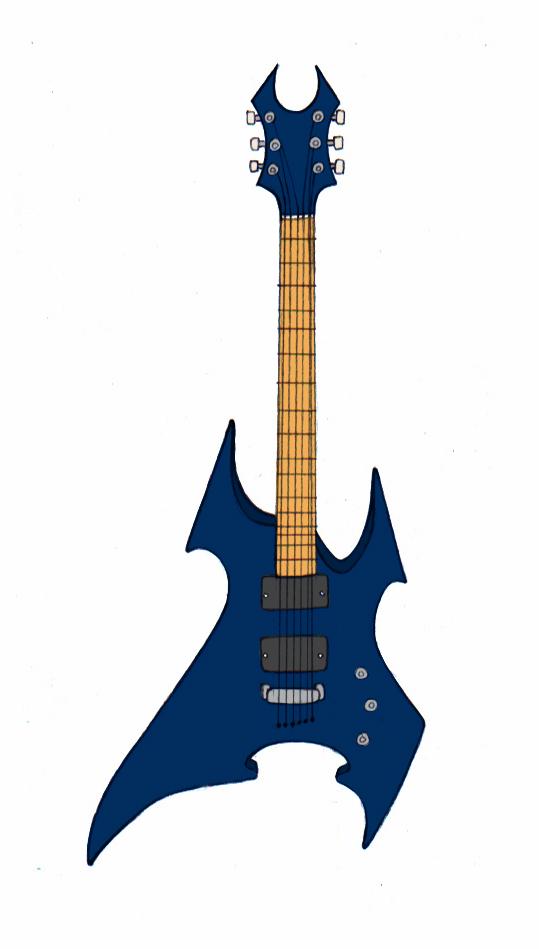 539x949 4 Ways To Draw Guitars