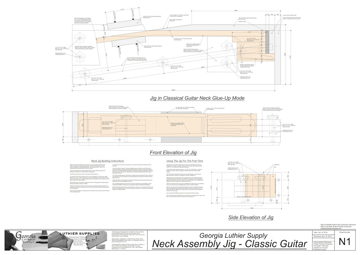1200x849 Classical Guitar Kasha Bracing 650mm Scale Electronic Version