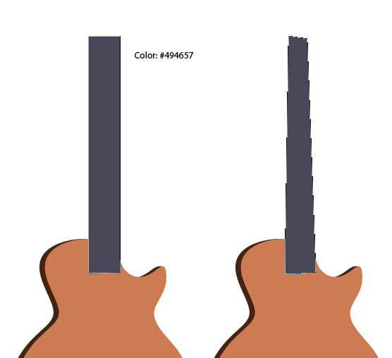 556x508 To Draw A Classic Electric Guitar In Photoshop