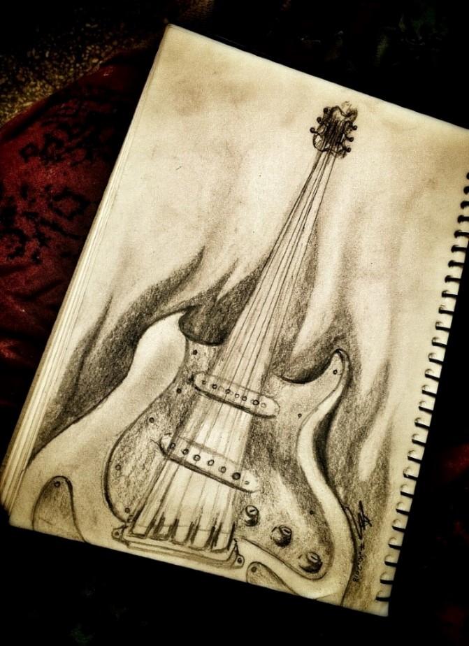Guitar Pencil Drawing At Getdrawings