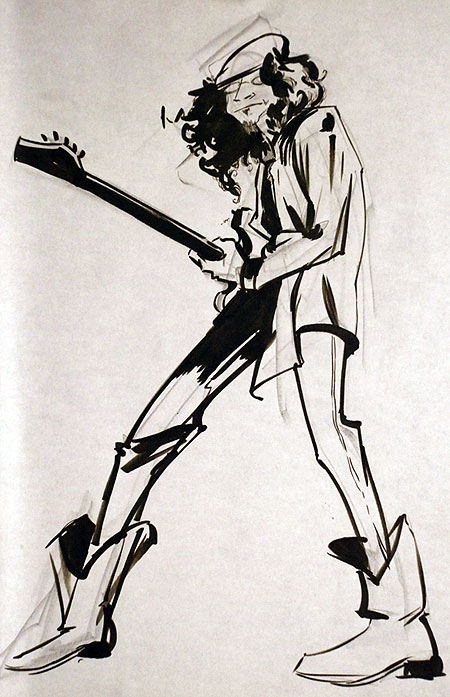 450x697 Blues Rock Guitar Player Photo And Artwork The Drawing Club