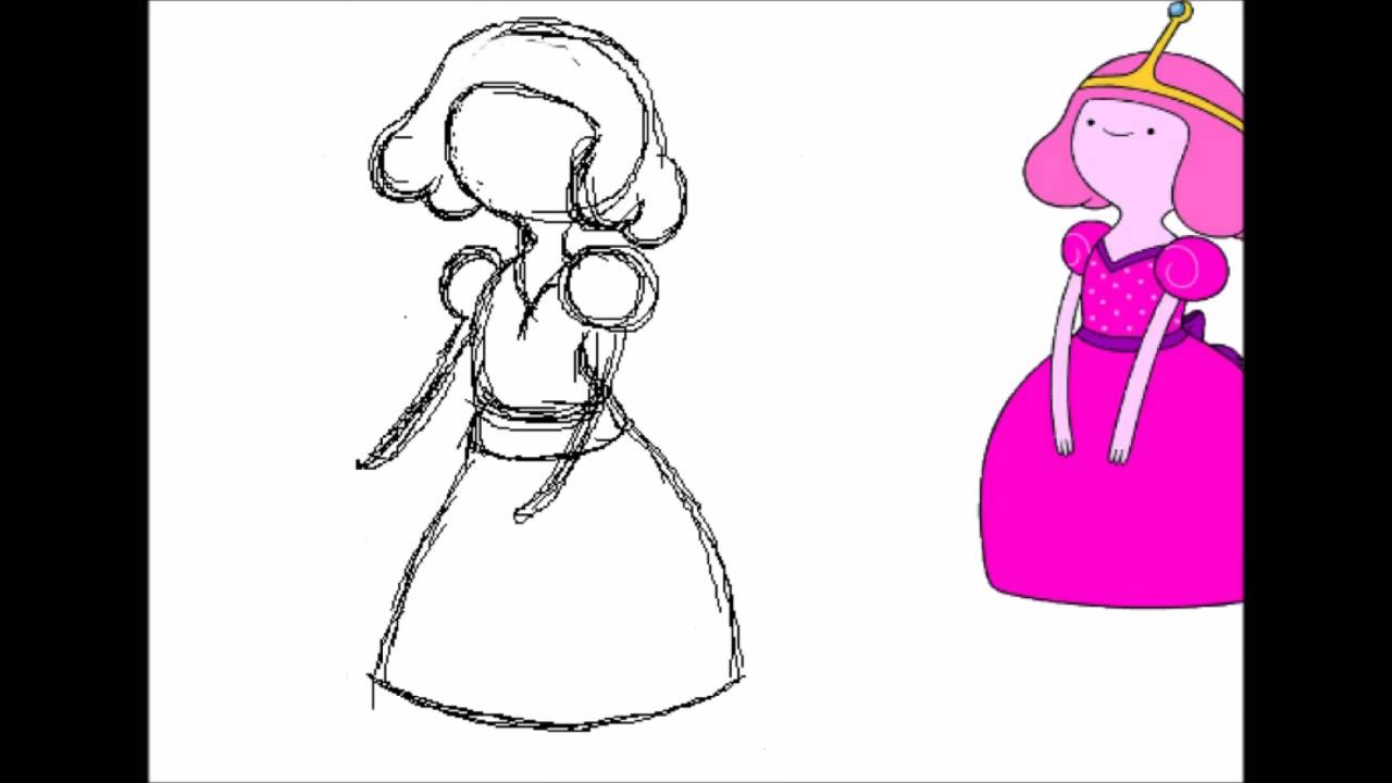1280x720 How To Draw Princess Bubble Gum (Speed Draw)
