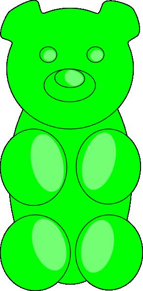 294x598 Green Gummy Bear Clip Art