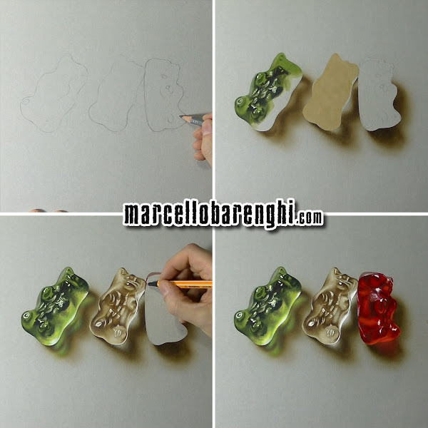 600x600 Gummy Bears Drawing