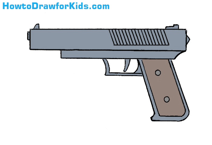 700x479 How To Draw A Gun For Kids Howtodrawforkids