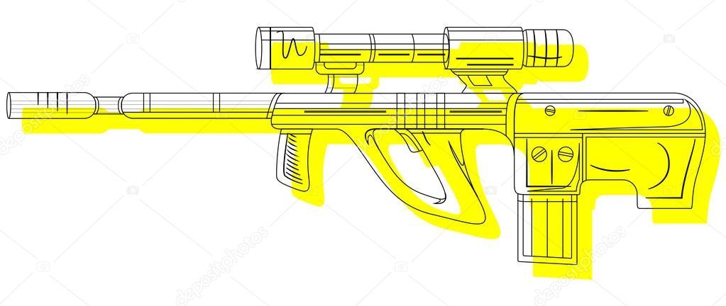 1023x432 Ancient Shooting Gun Drawing Stock Vector © baavli