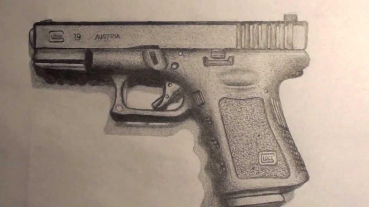 Gun Drawing In Pencil At Getdrawingscom Free For Personal Use Gun