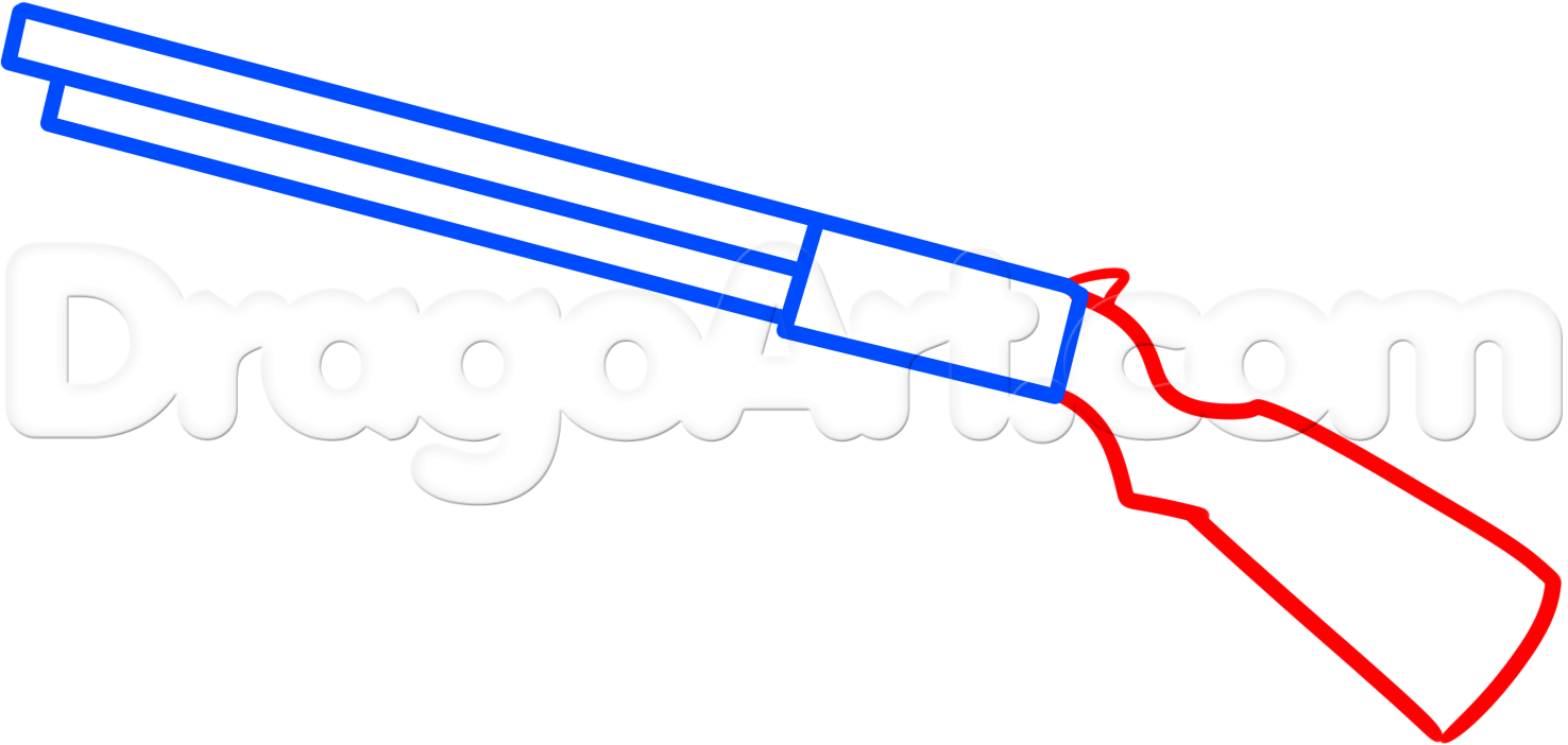 1476x702 4. How To Draw A Shotgun Easy